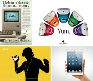 Apple ad designs iPod iMac iPad